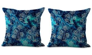 set of 2 palm tree beach coastal cushion cover