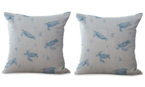 set of 2 sea animal turtle cushion cover