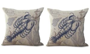 set of 2 lobster sailing coastal cushion coverset of 2 lobster sailing coastal cushion cover