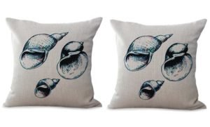 set of 2 sailor beach seashell cushion cover
