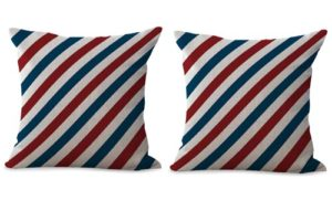 set of 2 American flag patriotic cushion cover