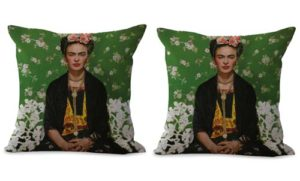 set of 2 self portrait Frida Kahlo Mexican painter cushion cover