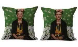 set of 2 self portrait Frida Kahlo Mexican painter cushion cover