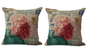 set of 2 hydrangea vintage flower cushion cover