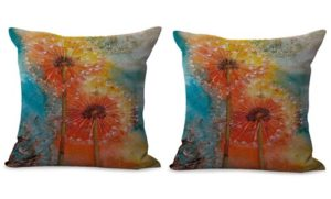 Set of 2 dandelion flower cushion cover