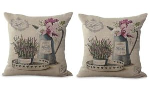 set of 2 vintage European garden cushion cover
