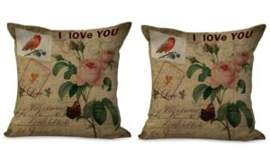 set of 2 retro bird flower cushion cover