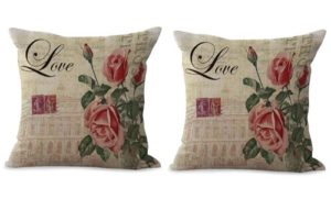 set of 2 European retro flower cushion cover