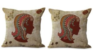 set of 2 Virgo Zodiac cushion cover