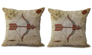 set of 2 Sagittarius Zodiac cushion cover
