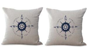 set of 2 shipbuilders boat beach cushion cover