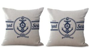 set of 2 sea anchor sailing cushion cover