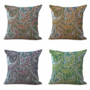 Set of 4 cushion covers vintage floral paisley We will randomly choose various designs shown on the pictures. Pillow case only, insert is not included.
