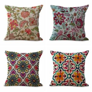 cushion covers retro tree flower We will randomly choose various designs shown on the pictures. Pillow case only, insert is not included.