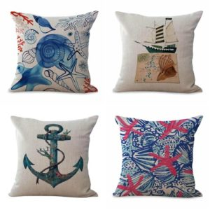 cushion covers retro bird peacock bottle garden fish We will randomly choose various designs shown on the pictures. Pillow case only, insert is not included.
