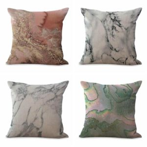 cushion covers marble mordern We will randomly choose various designs shown on the pictures. Pillow case only, insert is not included.