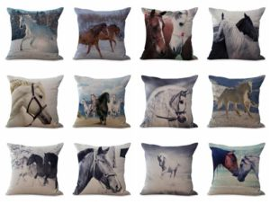 wholesale cushion covers equine horse equestrian We will randomly choose various designs shown on the pictures. Pillow case only, insert is not included.