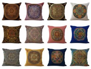 wholesale cushion covers symbol infinity life never end mandala We will randomly choose various designs shown on the pictures. Pillow case only, insert is not included.