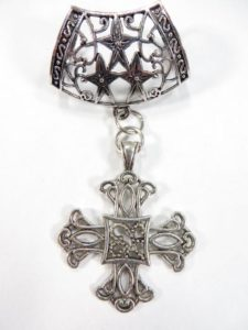 religious cross pendant slide set Jewelry findings for DIY scarves with jewelry / necklace scarf accessory