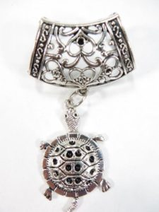 turtle pendant slide set Jewelry findings for DIY scarves with jewelry / necklace scarf accessory