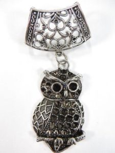 owl pendant slide set Jewelry findings for DIY scarves with jewelry / necklace scarf accessory