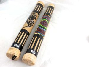 bamboo rainstick rain maker tribal music instrument Handmade in Bali, Indonesia.