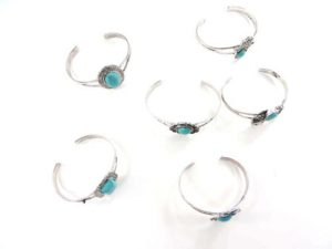 wholesale turquoise gemstone bangle cuff jewelry We will randomly pick assorted designs. Some designs may be repeated.Open back adjustable, fits most sizes wrists.