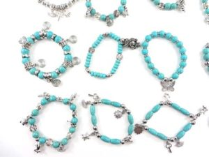wholesale turquoise gemstone Beaded Stretchy Bracelet We will randomly pick assorted designs. Some designs may be repeated. Stretchy adjustable, fits most sizes wrists.