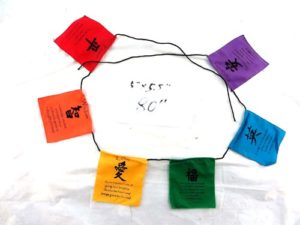 prayer flag affirmation flags on string, Tibetan inspiration quotes banners string