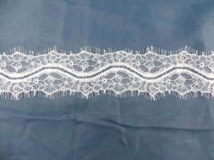 3 meters lace trim eyelash fabric vintage venice French Chantilly style white 7.62cm wide double eyelash edges, great for DIY sewing sexy lingeria, lace caps, skirt dress, bridal wedding dress, craft making