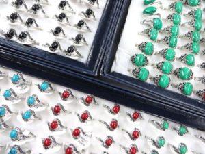 turquoise gemstone fashion rings