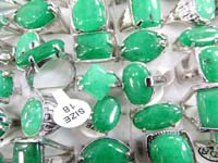 green jade fashion rings