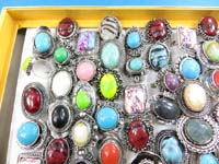 Assorted mixed color gemstone fashion rings