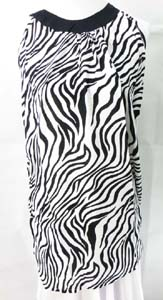 Rayon resort wear sundresses with animal print