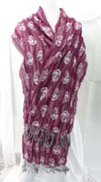 thick double layers reversible rose design thick scarves