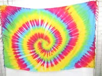 rainbow mixed color swirl tie dye sarong wraps