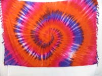 tie dye swirl sarong mixed colors