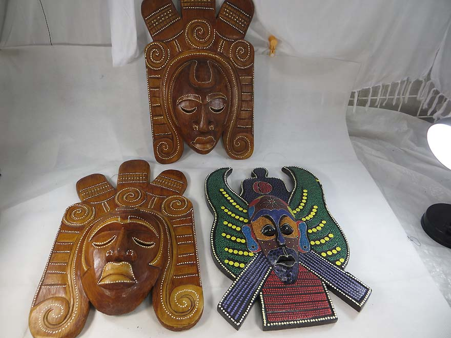 Large mask wall decor 1a for Bali home decorations wholesale