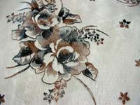 beige color rose floral polyester fabric cushion cover
