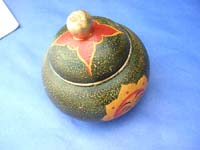 Bali handicraft painted sun face wooden container