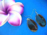 Balinese jewellery seashell earring in oval design