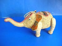 Dry natural material elephant statue