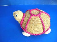 Dry natural material turtle statue
