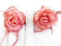 rose-feather-glitter-corsage-brooch-pin-ponytail-holder-12d