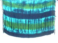 batik artwear blue green layers tie dye sarong