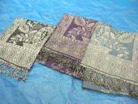 pashmina shawls, scarves, throws in pasley designs
