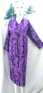 Balinese crafted beach bikini dress cover up with mid length sleeves and knee length skirt