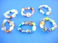 Assortment of glass bead mix fashion stretch bracelet