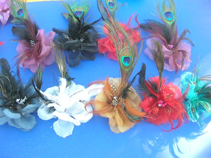wholesale jewelry / hair-clip-corsage-brooch-pin-2a-peacock-feather ...