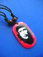 Che Accessories Anti-imperialism Che Guevara Necklace, Acrylic Pendant and Adjustable Black Cord